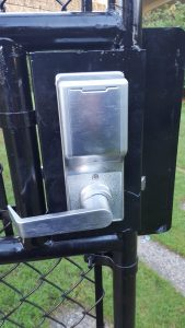 Mr. Locksmtih Vancouer West End Access Lock on Gates Inside view