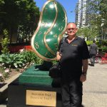 Melting Clock by Salvador Dali on Display in Downtown Vancouver